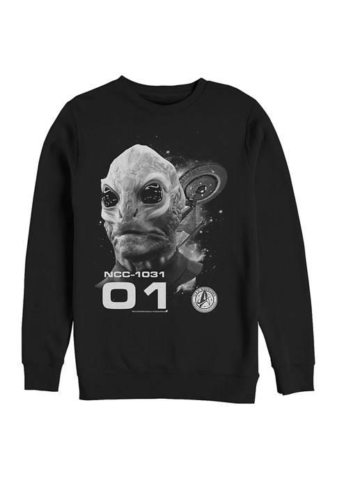 STAR TREK The Alien Graphic Crew Fleece Sweatshirt