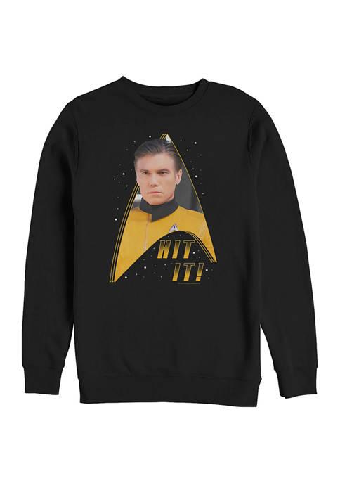 STAR TREK Hit It Graphic Crew Fleece Sweatshirt