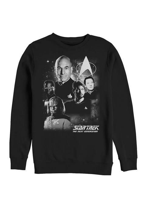 STAR TREK Black and White Graphic Crew Fleece