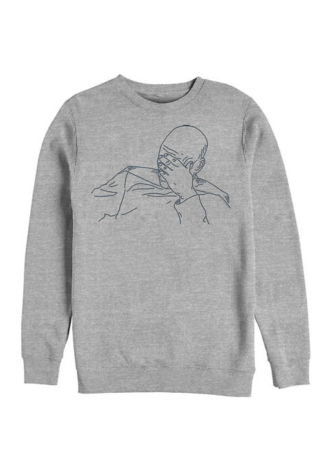 Picard Palm Graphic Crew Fleece Sweatshirt