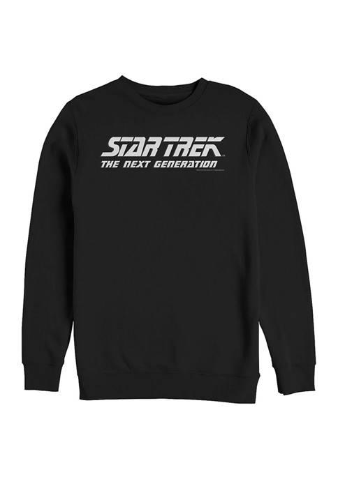 STAR TREK Basic Logo Graphic Crew Fleece Sweatshirt