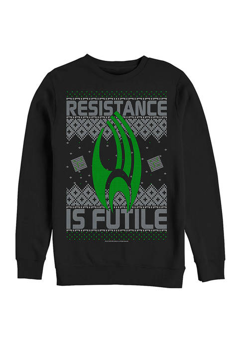 STAR TREK Resistance to Xmas Graphic Crew Fleece