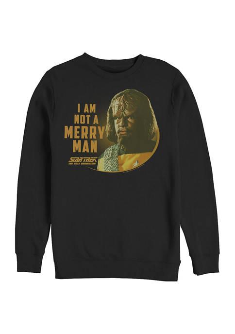 STAR TREK Unmerry Man Graphic Crew Fleece Sweatshirt