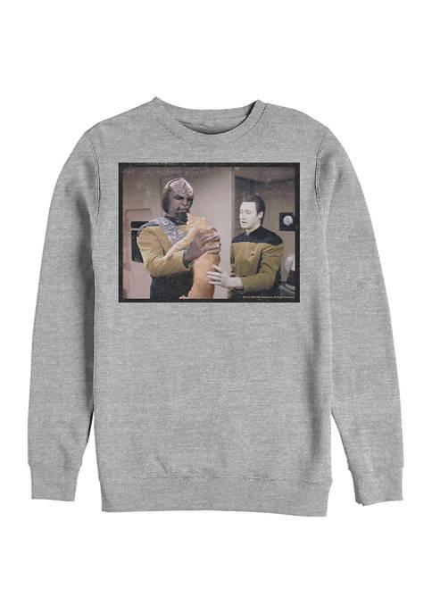 STAR TREK Spot Babysitter Graphic Crew Fleece Sweatshirt