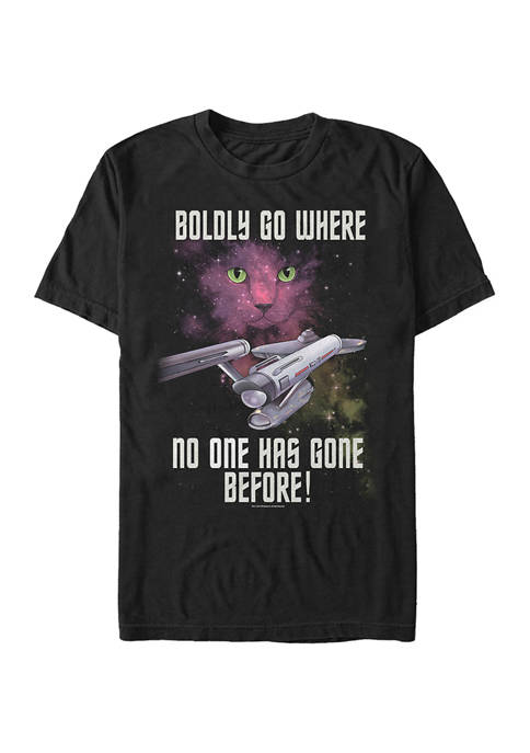 STAR TREK Bodly Go Cat Graphic T-Shirt