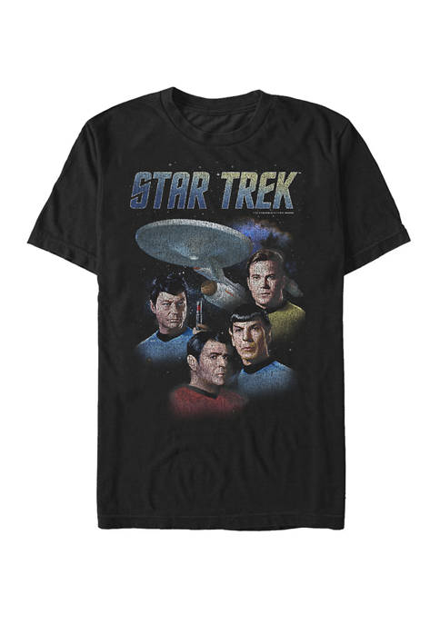 STAR TREK Distressed Group Logo Short Sleeve T-Shirt