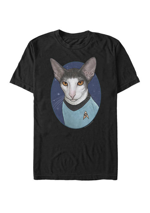 Big & Tall Spock Cat Portrait Short Sleeve Graphic T-Shirt