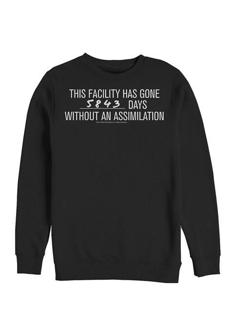 STAR TREK Without Assimilation Graphic Crew Fleece Sweatshirt