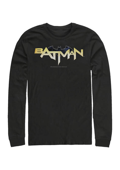 Batman™ Juniors Bat Logo Eleven Graphic Long Sleeve