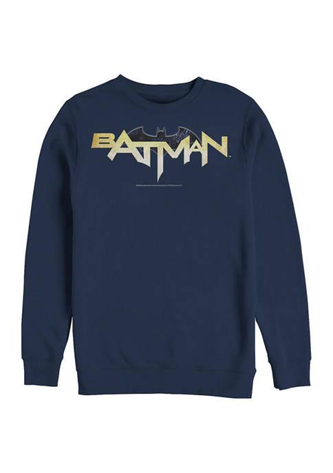 Batman™ Bat Logo Eleven Graphic Crew Fleece Sweatshirt