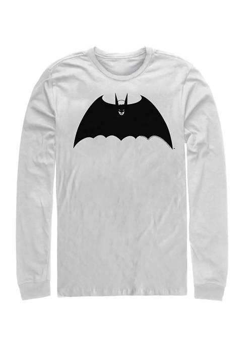 Juniors Bat Logo Three Graphic Long Sleeve T-Shirt