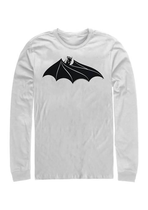 Juniors Bat Logo Eight Graphic Long Sleeve T-Shirt