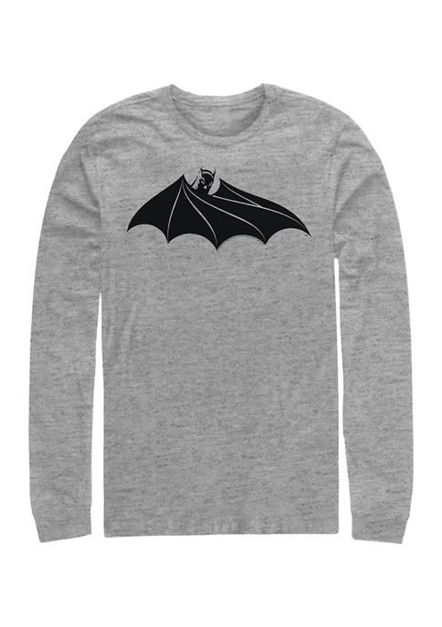 Bat Logo Eight Graphic Long Sleeve T-Shirt