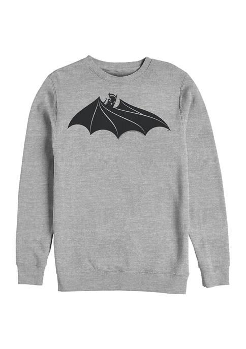 Batman™ Bat Logo Eight Graphic Crew Fleece Sweatshirt