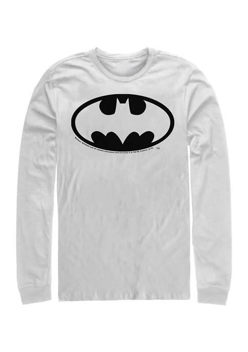 Juniors Basic Logo Outline Graphic Long Sleeve T-Shirt