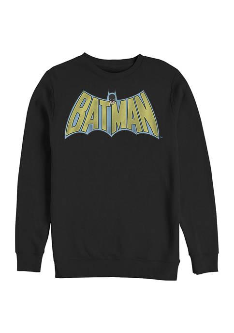 Batman™ Vintage logo Graphic Crew Fleece Sweatshirt