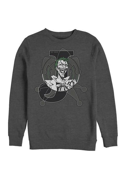 Batman™ Joker Card Graphic Crew Fleece Sweatshirt