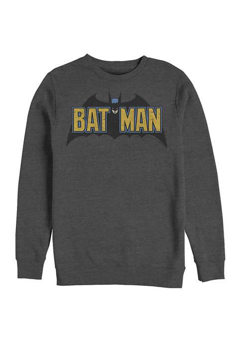 Batman™ OldSkool Logo Graphic Crew Fleece Sweatshirt