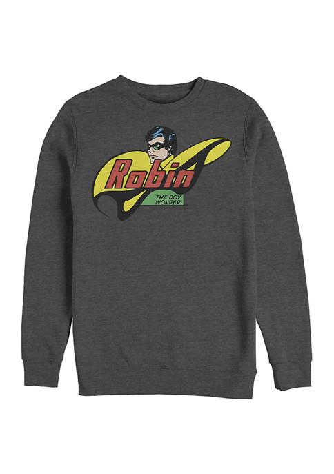 Batman™ Robin Face Logo Graphic Crew Fleece Sweatshirt