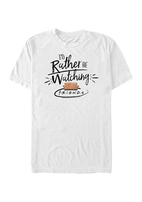 Friends Id Rather Be Watching Graphic Short Sleeve