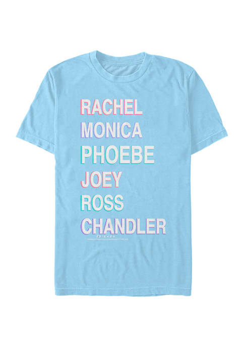 Friends Names Stacked Graphic Short Sleeve T-Shirt