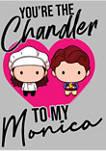 Friends Chibi Chandler Monica Graphic Short Sleeve T-Shirt