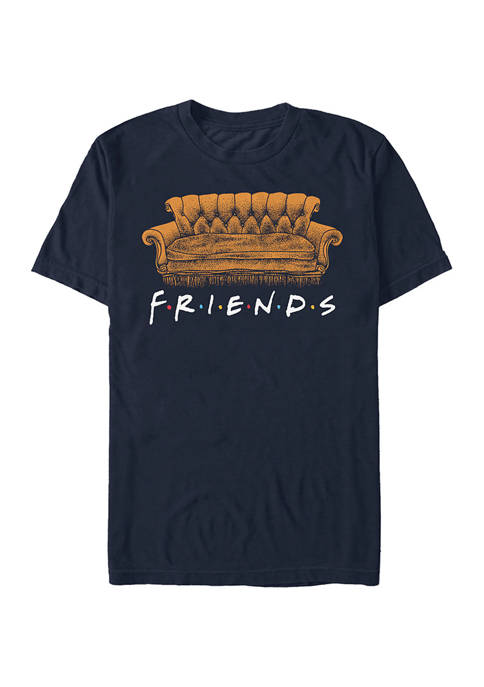 Friends Couch Coffee Graphic Short Sleeve T-Shirt