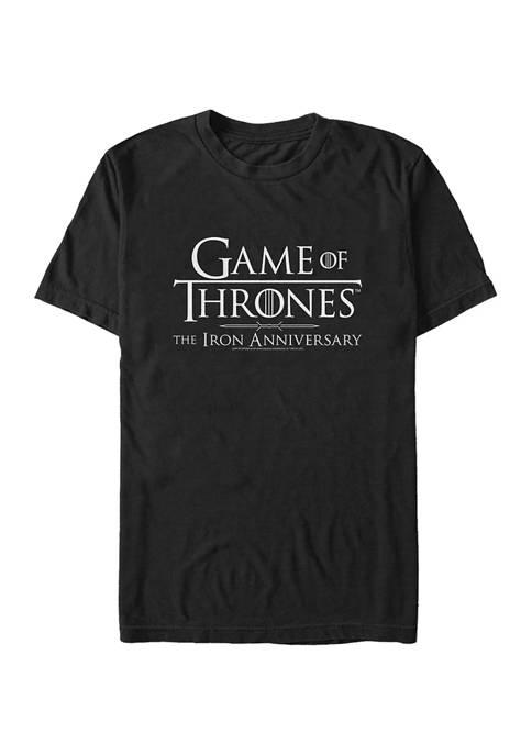 Game of Thrones Iron Anniversary Logo White Graphic