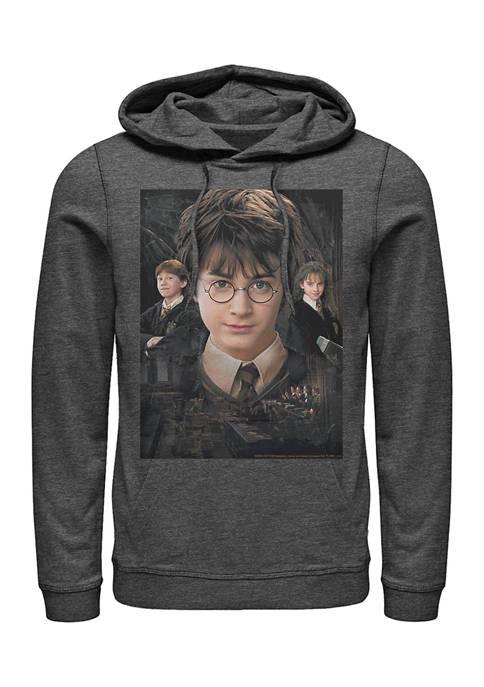Harry Potter the Trio Fleece Graphic Hoodie