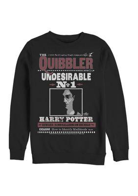 Harry Potter Mens Harry Potter Harry Quibbler Crew Fleece Graphic Sweatshirt