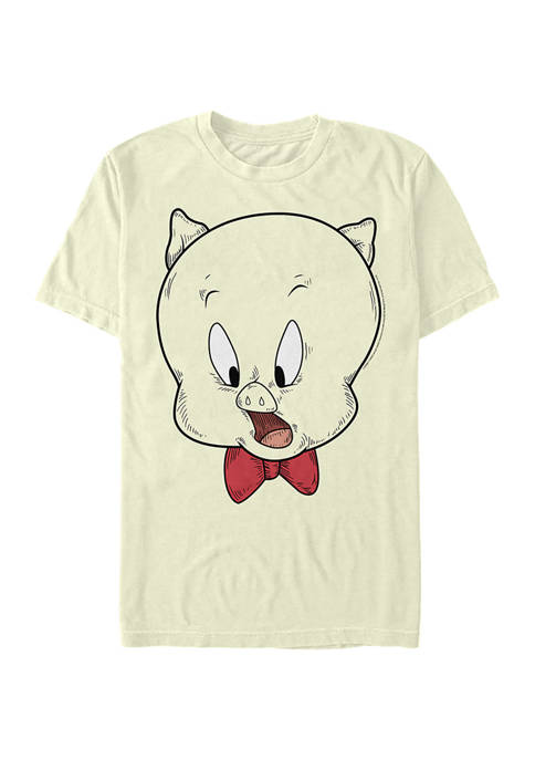 Looney Tunes™ Porky Pig Face Graphic Short Sleeve