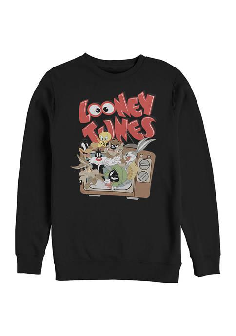 Looney Tunes™ Tune TV Graphic Crew Fleece Sweatshirt