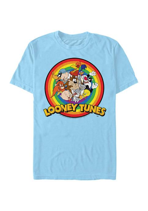 Looney Tunes™ Group Rainbow Graphic Short Sleeve T-Shirt