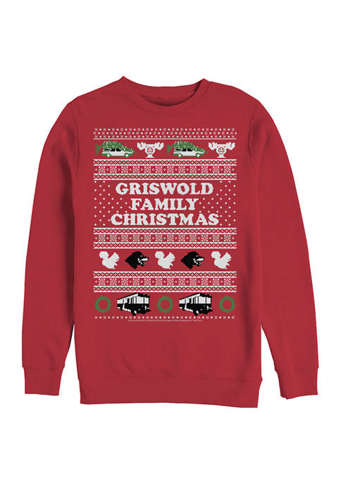 National Lampoons Christmas Vacation Fleece Crew Neck Sweater