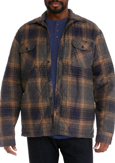 Big & Tall Quilted Flannel Jacket