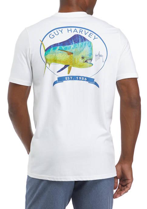 Guy Harvey® Mens Mahi Short Sleeve T-Shirt