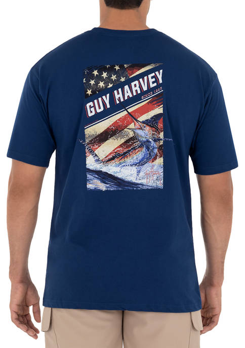 Guy Harvey® Men's Jumping Marlin Short Sleeve T-Shirt