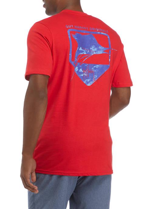 Guy Harvey® Mens Short Sleeve Water Shield Graphic