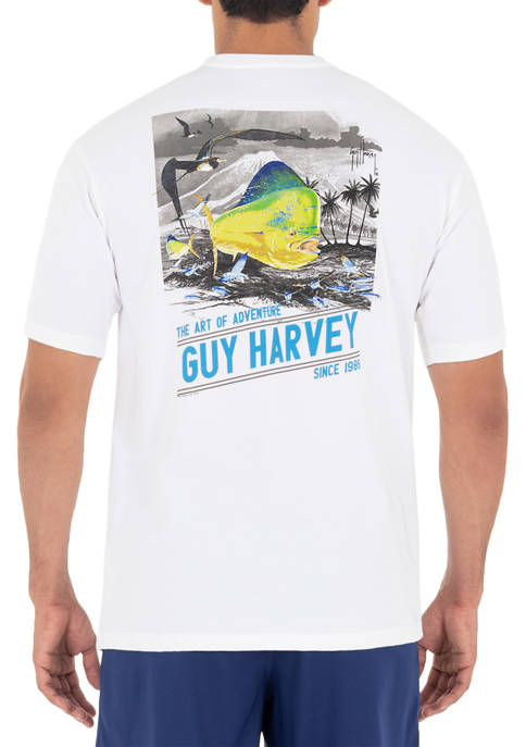 Guy Harvey® Mens Billfish Graphic Short Sleeve T-Shirt