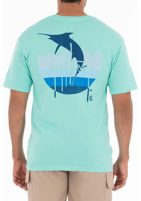 Guy Harvey® Core Marlin Outline Short Sleeve T-Shirt