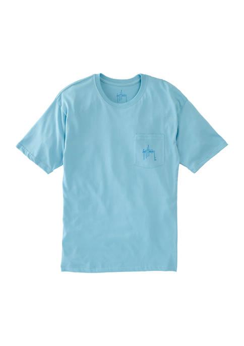 Guy Harvey® Patriotic Shield Short Sleeve Pocket T-Shirt
