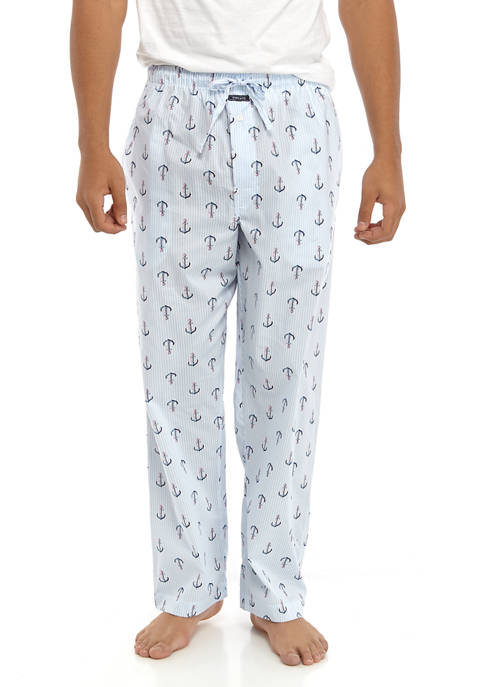 Crown & Ivy™ Seersucker with Anchors Pajama Pants