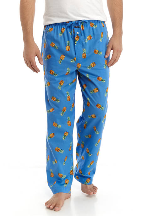 Mens Pineapple Print Pajama Pants