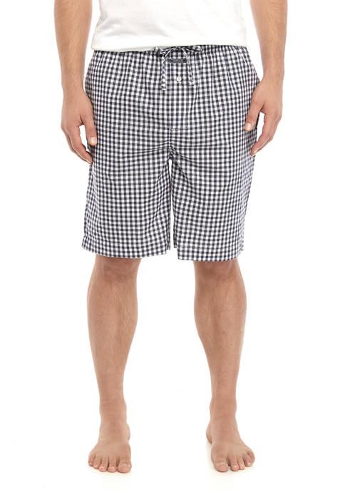 Crown & Ivy™ Mens Gingham Pajama Shorts