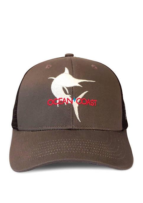Ocean & Coast® Mens Marlin Flat Embroidery Baseball