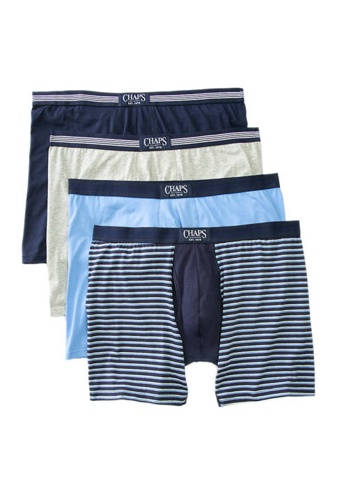 Chaps Big & Tall 4 Pack Boxer Briefs