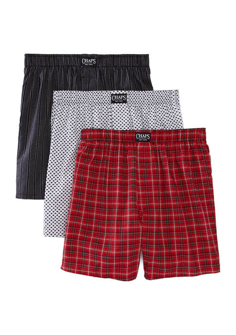 Set of 3 Woven Boxers