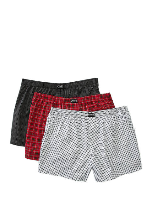 Chaps 3 Pack Woven Boxers