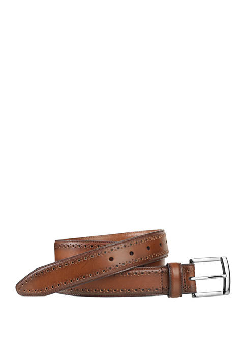 Johnston & Murphy Mens 35 Millimeter Perfed Edge