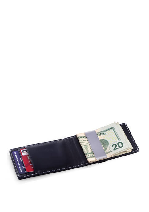 Bey-Berk Black Leather Wallet with Credit Card/ID Slots
